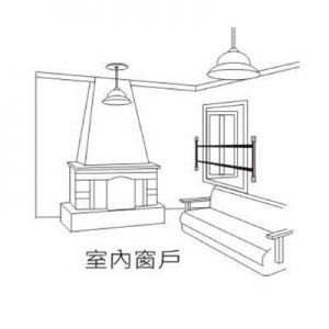 阳台手绘线稿平面图