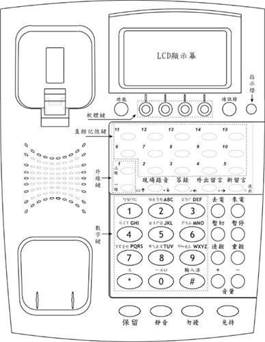 PSTN-DTAD-1L 單線式中文答錄音電話機主要部位介紹